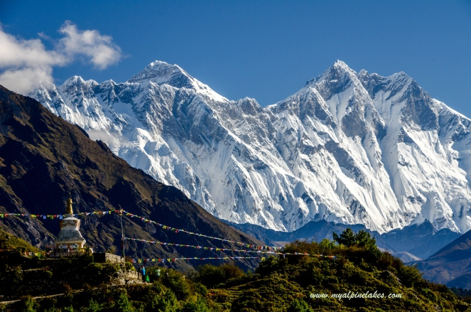 first sighting of Everest and Lhotse
