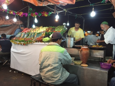 food vendor in Medina of Marakech