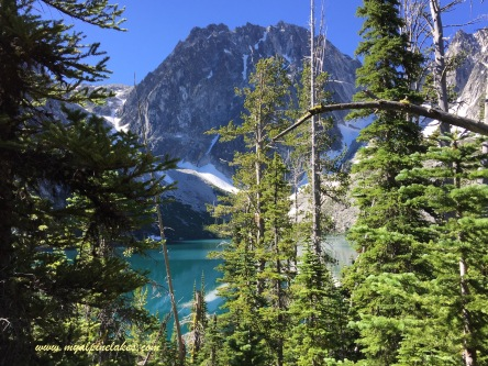 This was our first view of Colchuck Lake