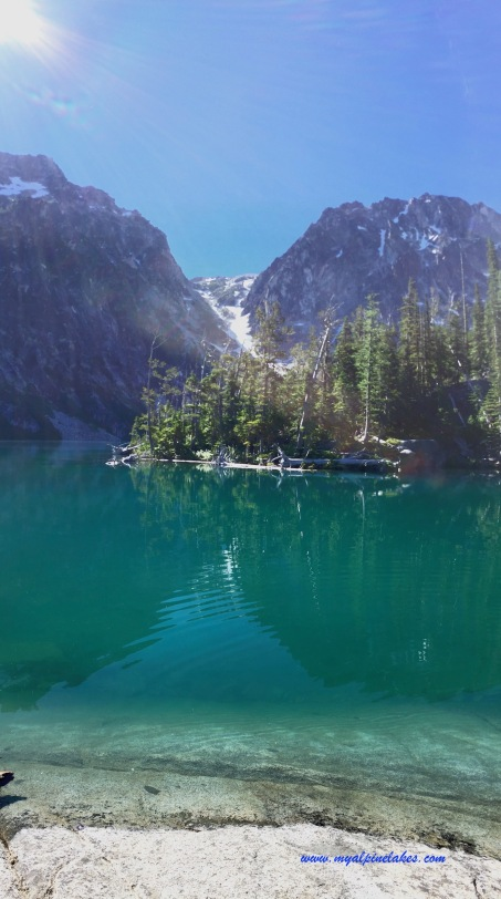 You can see Aasgard pass on the other side of Colchuck Lake