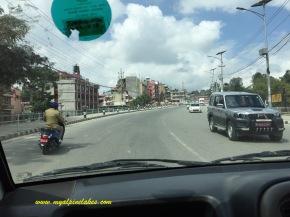 empty streets in Kathmandu! what?