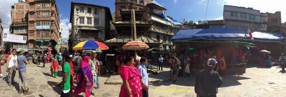 Random street view in the south part of Thamel