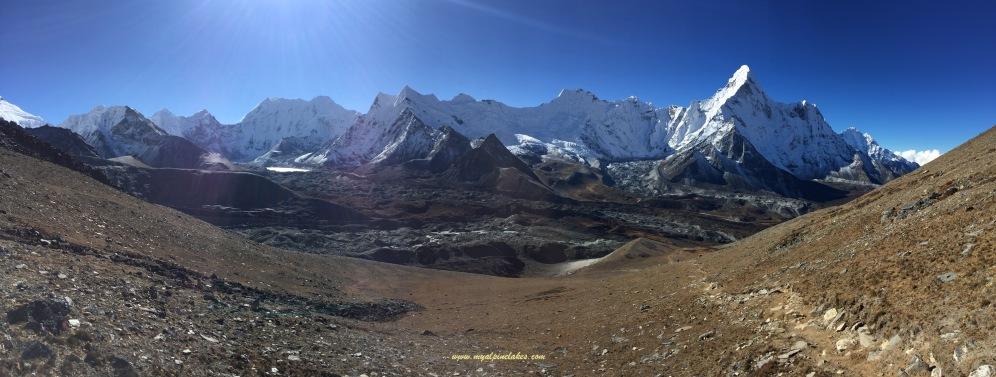 Looking back at this gorgeous mountain range