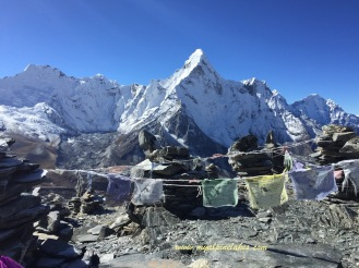 Ama Dablam and prayer flags