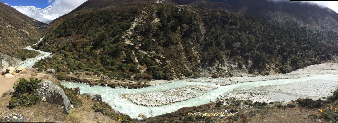 Another look at the river formed from the Khumbu glacial melt.