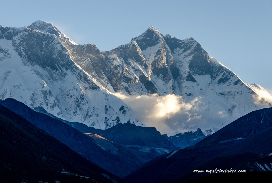 Good Morning, Mt Everest and Lhotse, for the last time this trek. We may see each other again one day.