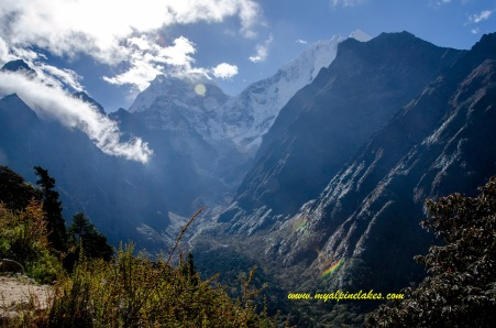 Looking back at the enormous glacial peaks
