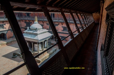 Inside the national museum in Patan