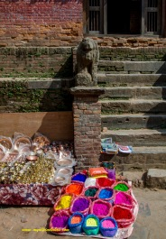 colorful display of a vendor