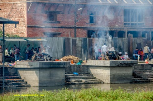 River bank of Pasupathinath Temple where bodies are burned in open air