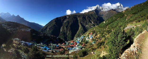 final look at Namche Bazaar