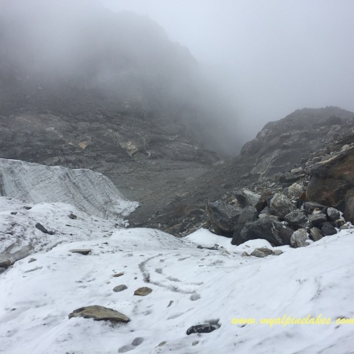 The glacier on top of Cho La