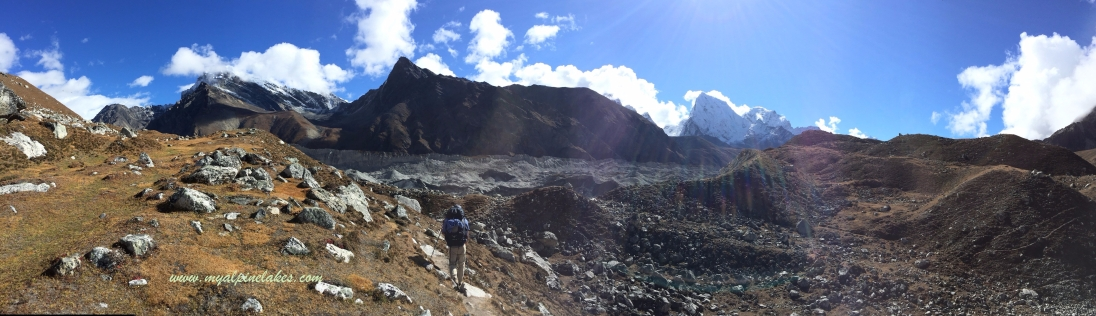 Going towards the remnant of a glacial path