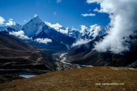 Looking back at Ama Dablam