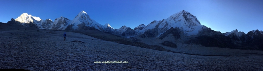 Sun is about to rise above Mt Everest