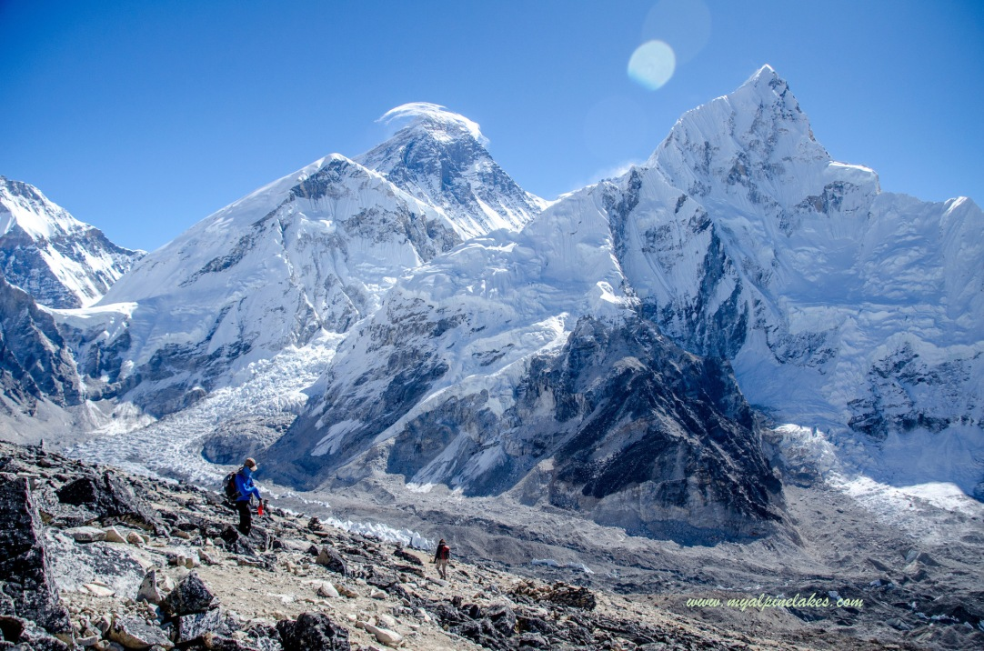 Looking back at Mt Everest from KP