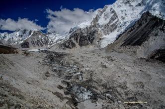 Enormous Khumbu glacier