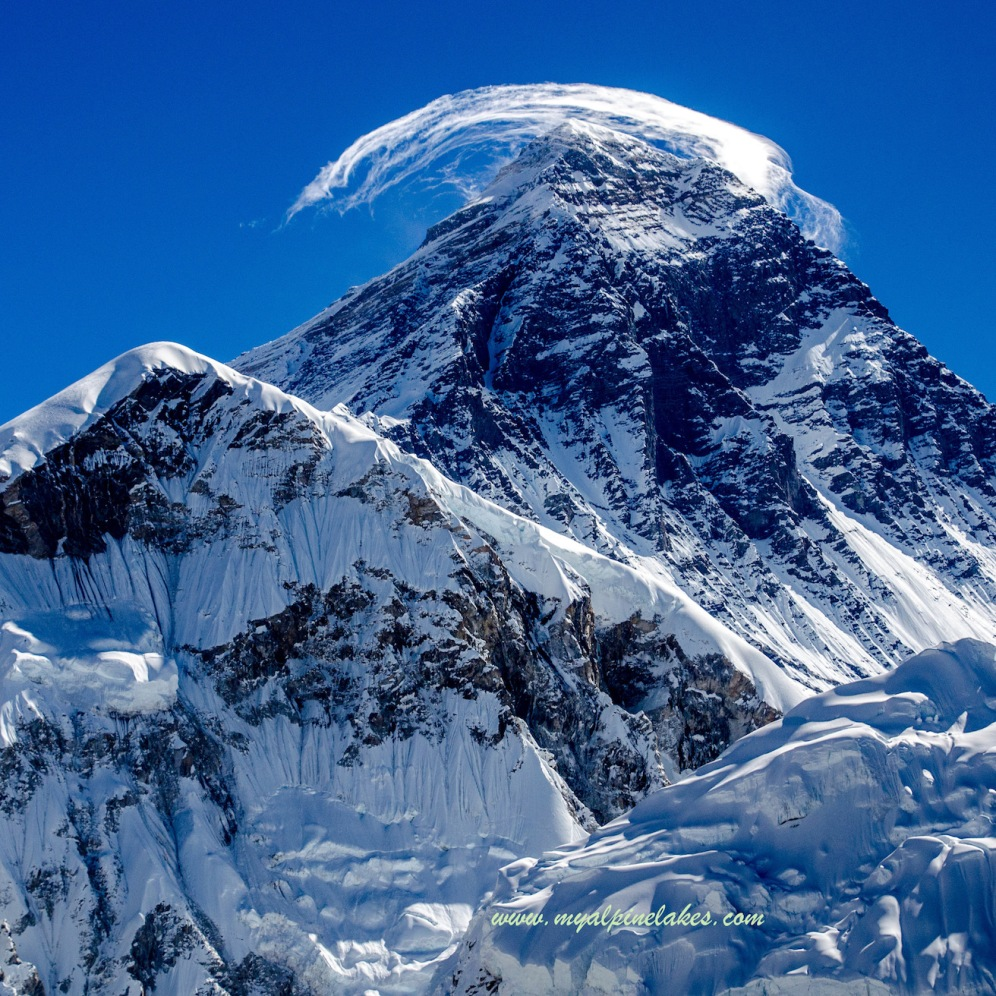 Close up view of Mt Everest