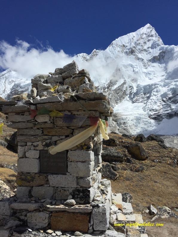 a memorial of fallen mountaineers.