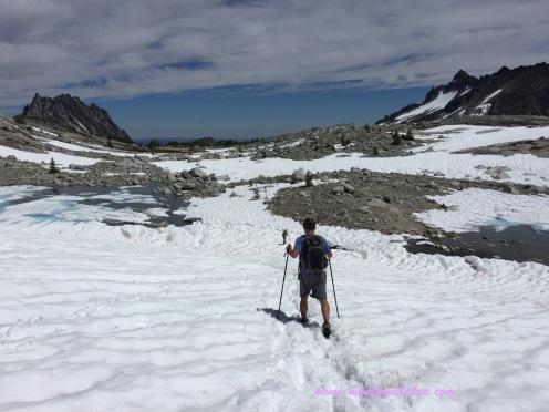 traversing a snowfield