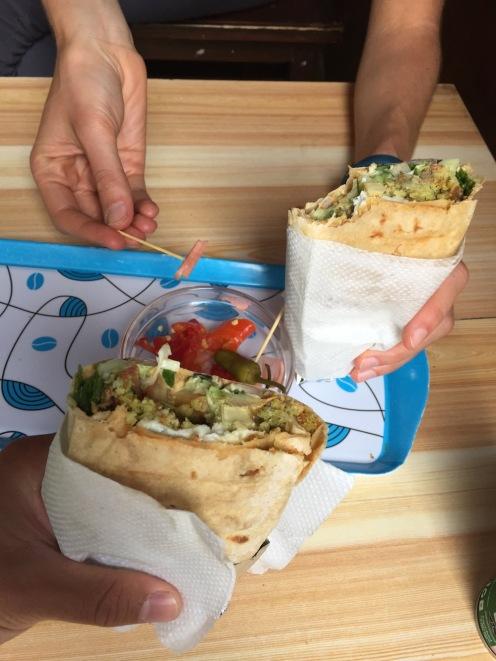 Chicken shawarma wrap