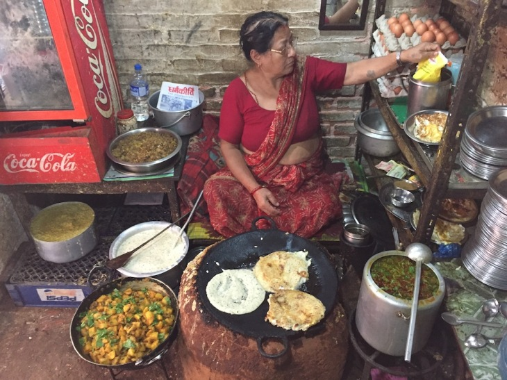 The source of this delicious Newari food