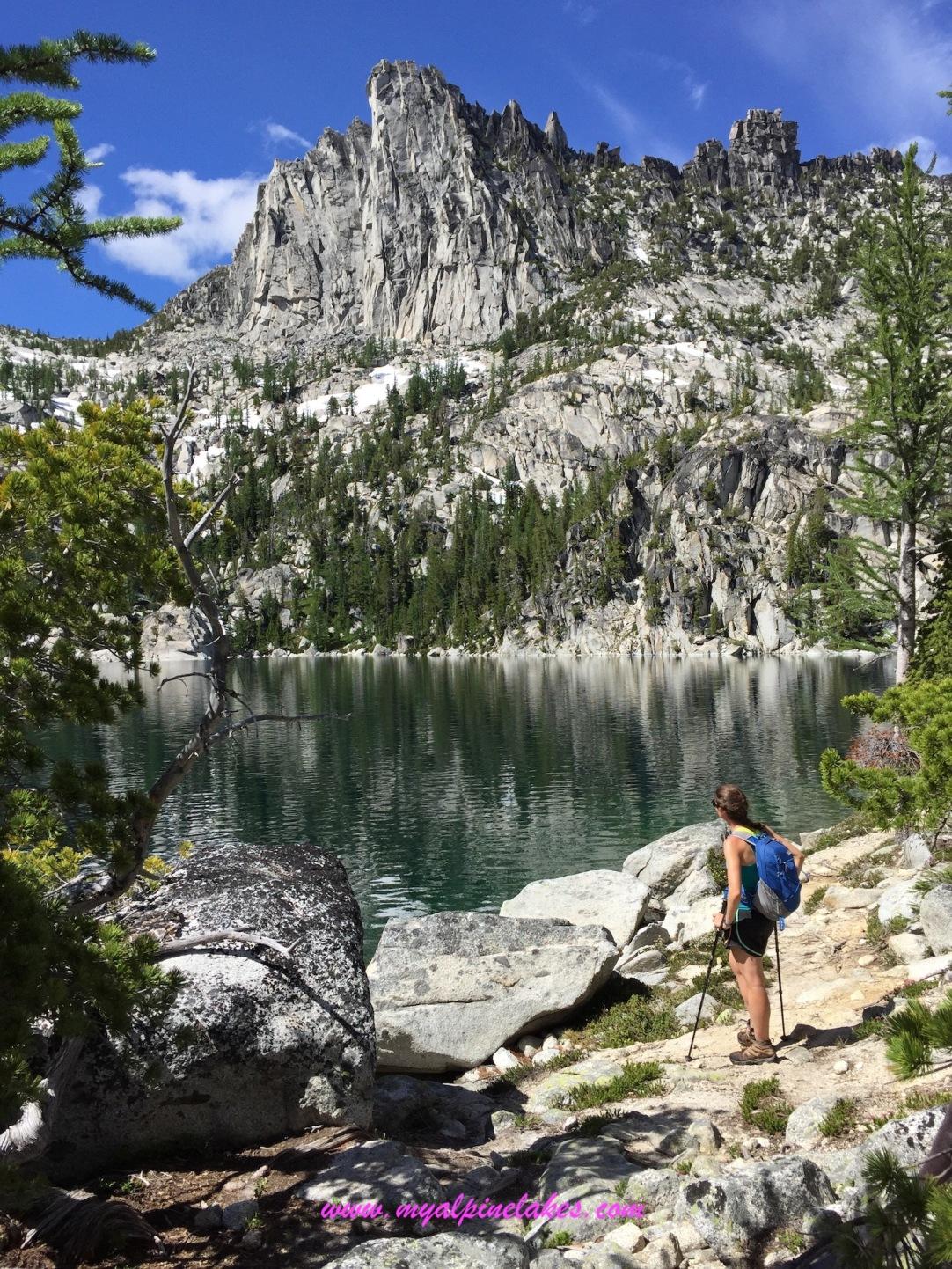Lake Vivian is Tricia's favorite lake on this hike