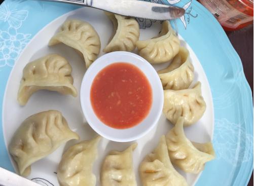 veg momo: tasty steamed dumplings you see everywhere in Nepal