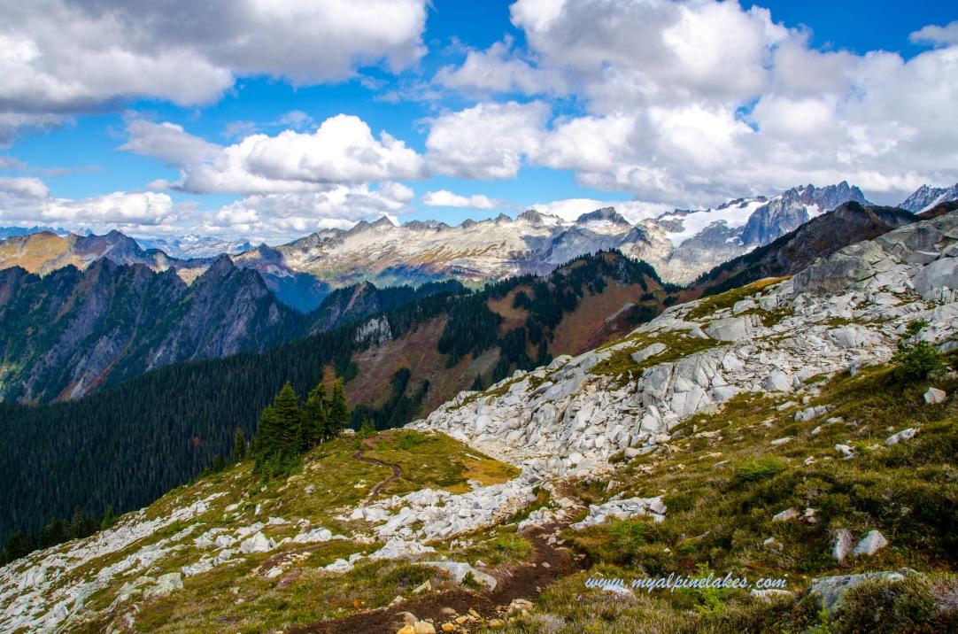 On the ridge of white granites