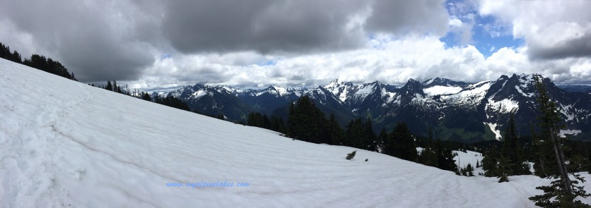 looking south to try to find Rainier. The clouds are obstructing my view to the distance.