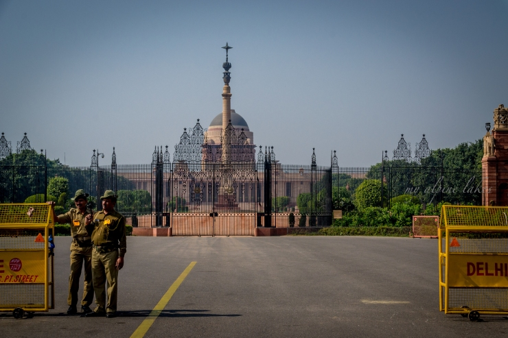 President's palace in Delhi. No, I was not invited.