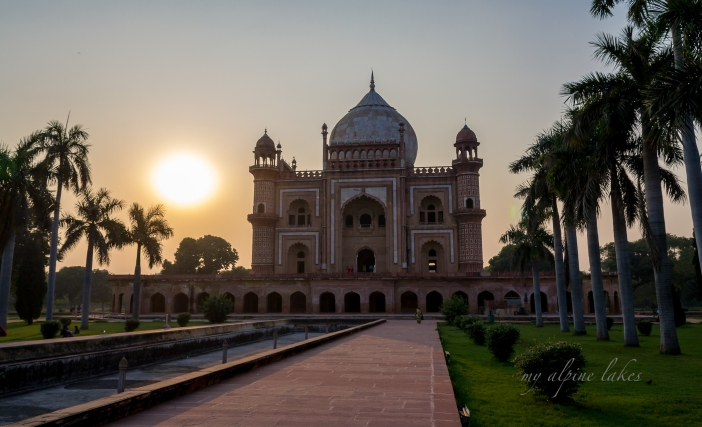 Safdarjang tomb in sunset