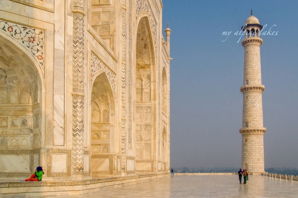 Kicked off my shoes and sat down on the pearly floor of Taj Mahal platform for a minute. Just soaking it in, my friend.