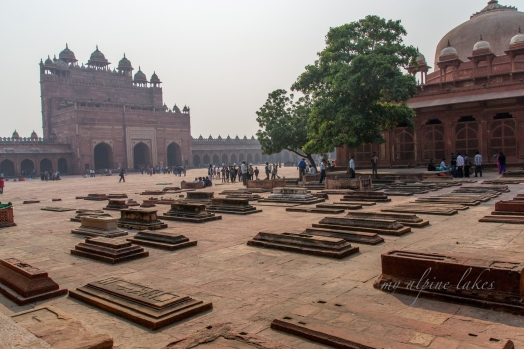 Tombs in the square of Jama Mosque