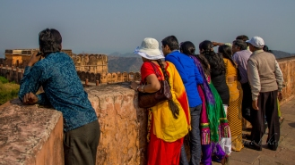 Looking over the walls of a fortress in Jaipur