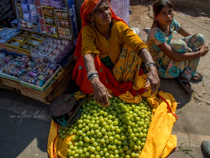 A woman and her produce.