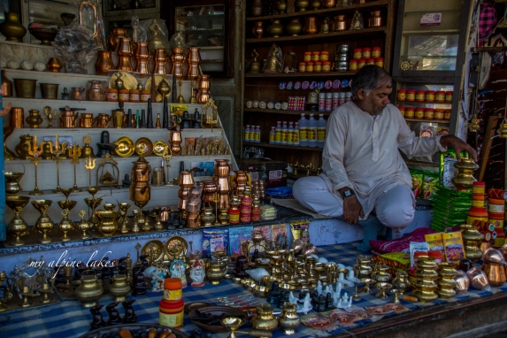Man and his shop