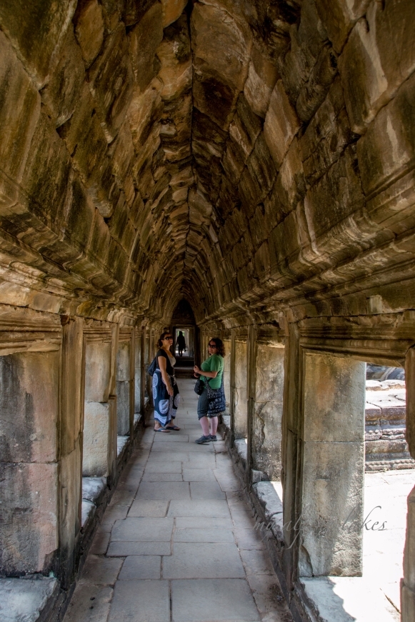 Exploring the halls of old temples.