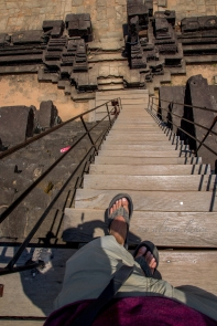 More steep steps: it's not a place to be distracted.