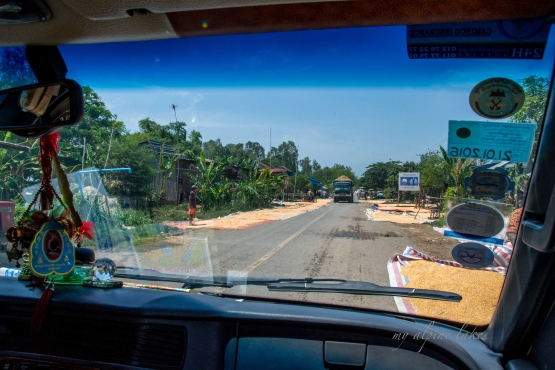 "The adventure started early in the morning when we were told our boat broke down so we had to take a shuttle for two hours to get to another boat. It was a sunny ride. Farmers were drying their harvest on the sides of ""highways"". I have to say our driver is quite skillful not to run over the drying tarps or crashing into the incoming trucks."