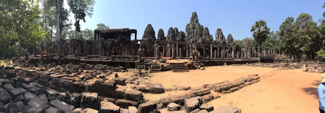 A pano picture of dilapidated temple
