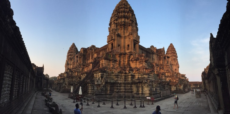 from inside the walls of Angkor Wat
