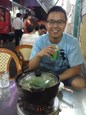 A seafood hotpot on the street of HCMC. It was so damn hot sitting there.