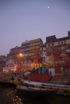 Colorful ghats of Varanasi.