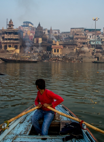 Our captain rowed us to the ghat for a tour.
