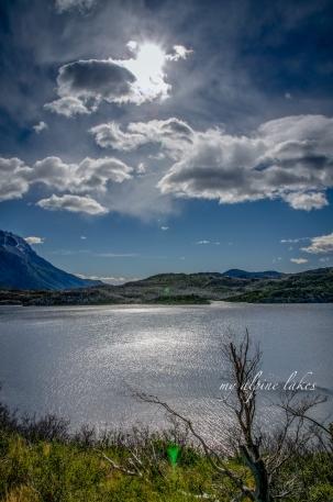 Lago Skottsberg with its mysterious dark water.
