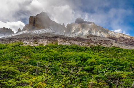 the Cuernos towered over us on our right hand side