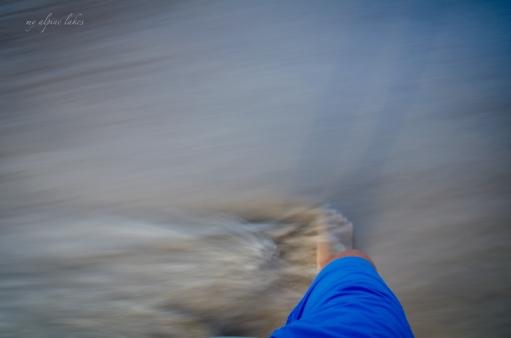 enjoying the feeling of fine sand between my toes