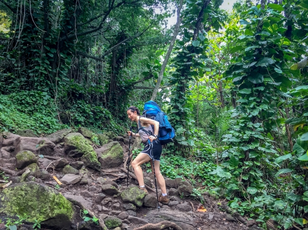 Start of the trail was not too muddy. It immediately felt like a tropical jungle.