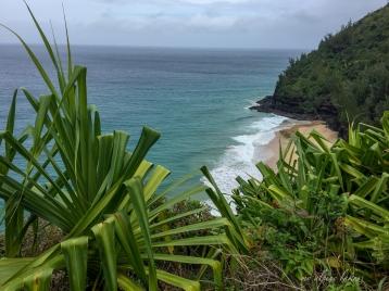 Looking back at Hanakapi'ai beach